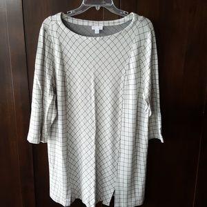 J Jill 2x Ponte knit tunic